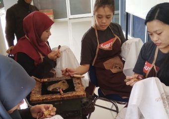 Students were on Their Process of Making Batik